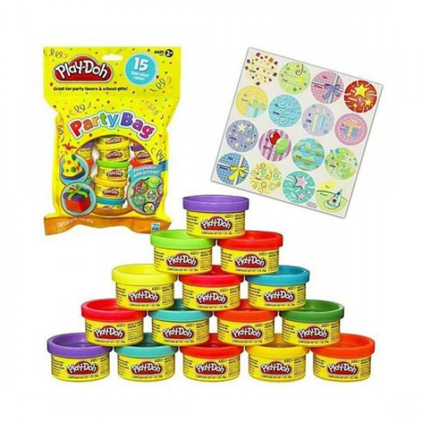 Play Doh 15 Mini Cans Party Bag Pack - Lexi & Me