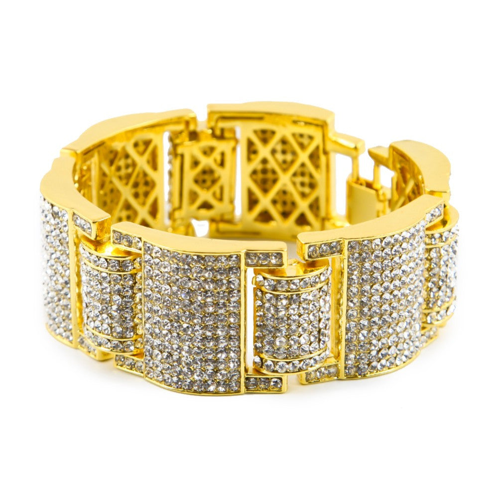 14K Gold Plated Iced Out MicroPave Bracelet