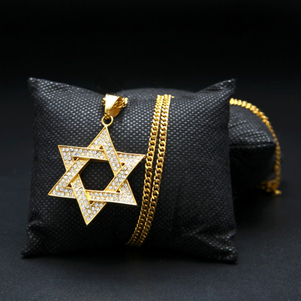 14K Gold Plated Star of David Necklace