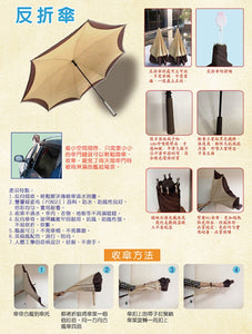 Carbon Fiber Windproof Inverted Umbrella