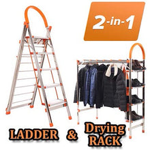 Vendetta 2 in 1 Multipurpose Stainless Steel Clothes Drying Rack /Ladder