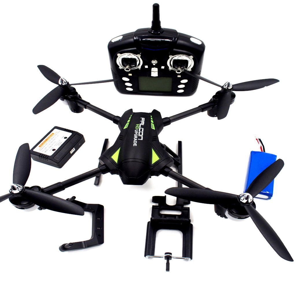 Vendetta Aircraft Q323 Black 4 Ch Video Transmission R/C Quad-Copter 15 Minutes Flying Time