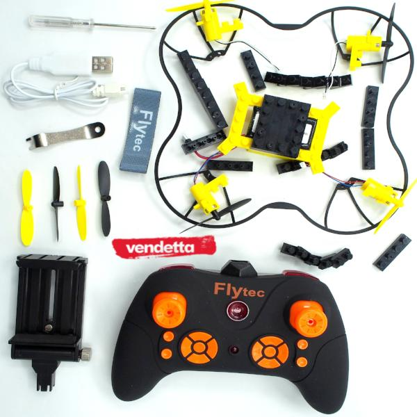 Vendetta Flytec Building Bricks Drone T11 2.4GHz Wifi HD Camera/Video