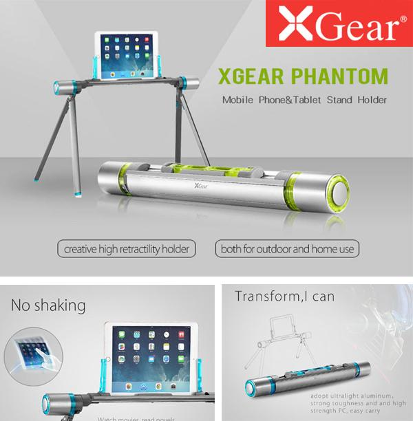 XGear Phantom Smart Stand Holder Mount Cradle for 4-10 Inch Mobile Phone Tablet iPad Tab