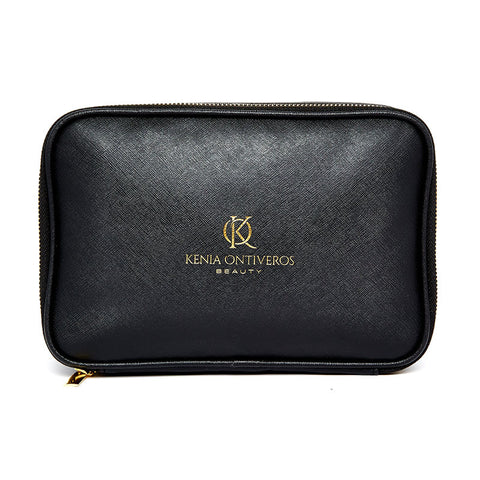 DUAL ZIP MAKEUP BAG + BRUSH CASE