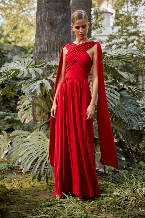 vanderwilde-saona-vestidos largos-vestido largo rojo-punto de seda-vestidos madrina-vestidos invitadas-vestidos damas de honor-evening dresses-long dresses-red-wedding dresses-made in spain