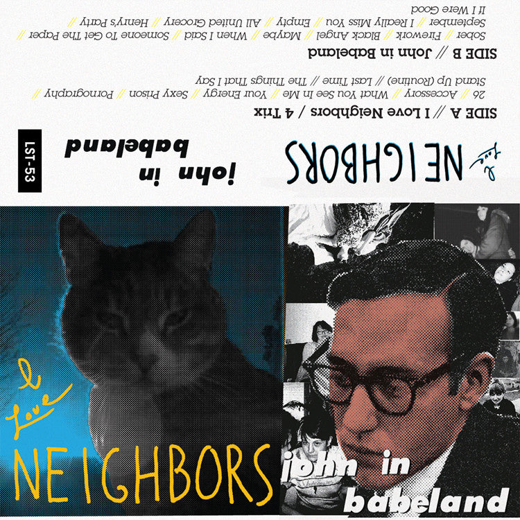 "NEIGHBORS ""I Love Neighbors/John In Babeland"" cassette tape"