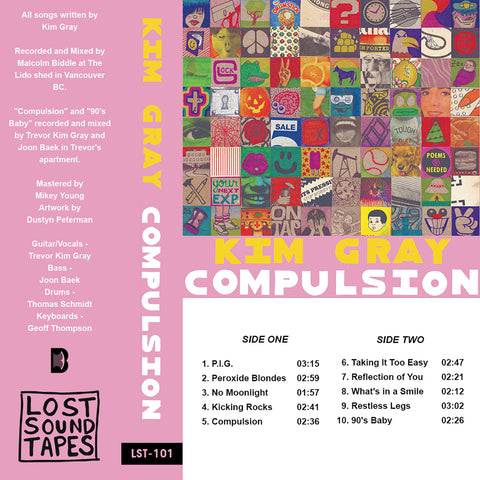 "KIM GRAY ""Compulsion"" cassette tape"