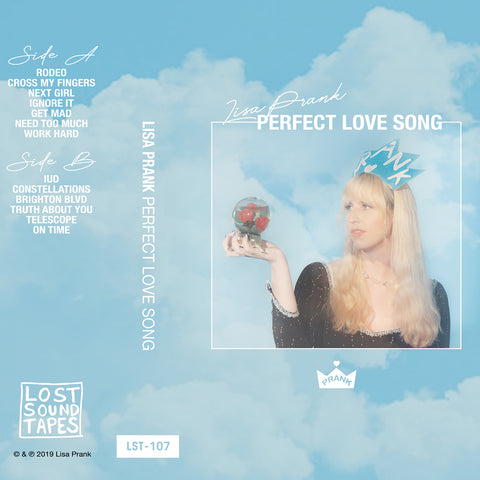 "PRE-ORDER: LISA PRANK ""Perfect Love Song"" cassette tape"