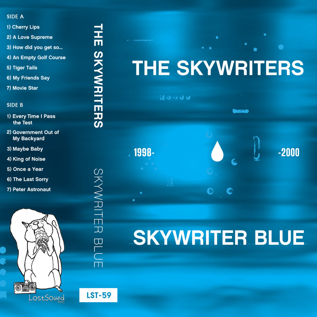 "THE SKYWRITERS ""Skywriter Blue 1998-2000"" cassette tape"