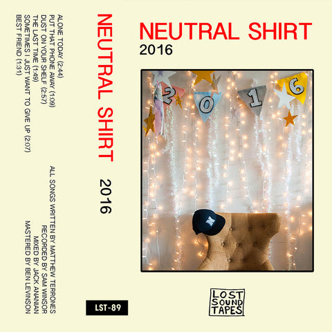 "NEUTRAL SHIRT ""2016"" cassette tape"