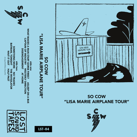 "SO COW ""Lisa Marie Airplane Tour"" cassette tape"
