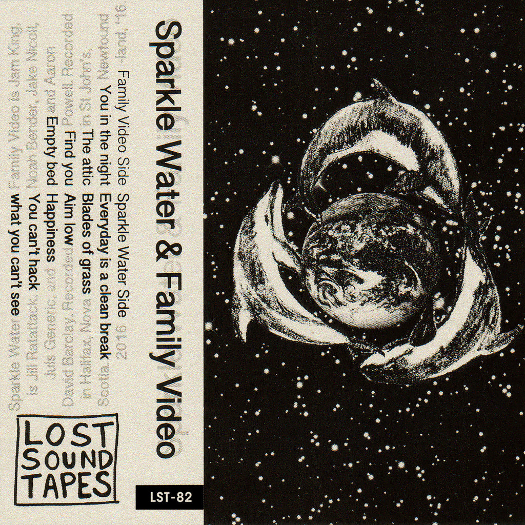 "SPARKLE WATER / FAMILY VIDEO ""Split"" cassette tape"