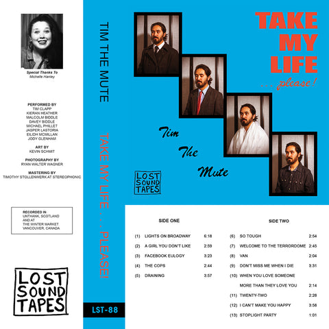 "TIM THE MUTE ""Take My Life"" cassette tape"