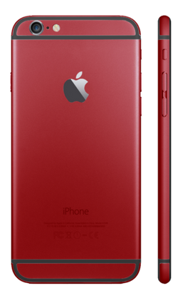 Custom iPhone 6s Plus Matte Red Housing
