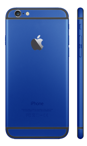 Custom iPhone 6 Matte Blue Housing
