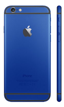 Custom iPhone 6s Plus Matte Blue Housing