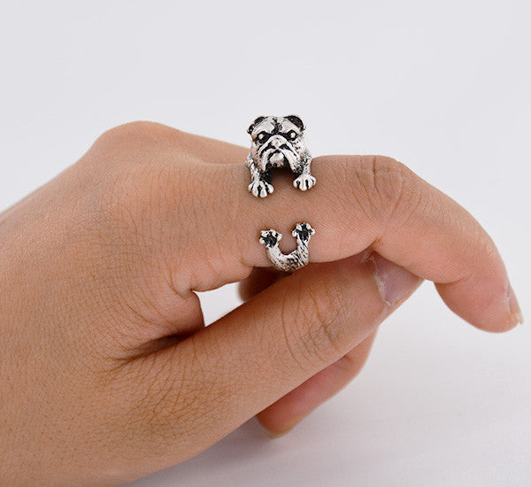 Cute Handmade English Bulldog Ring