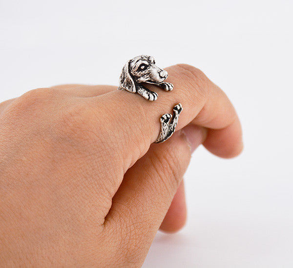 Vintage Love Dachshund Dog Ring