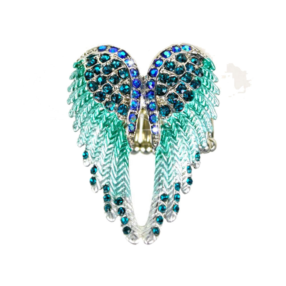 Exclusive Design Steampunk Austrian Rhinestone Fashion Angel Wing Ring Excellent Quality  (3 colors to chose from)