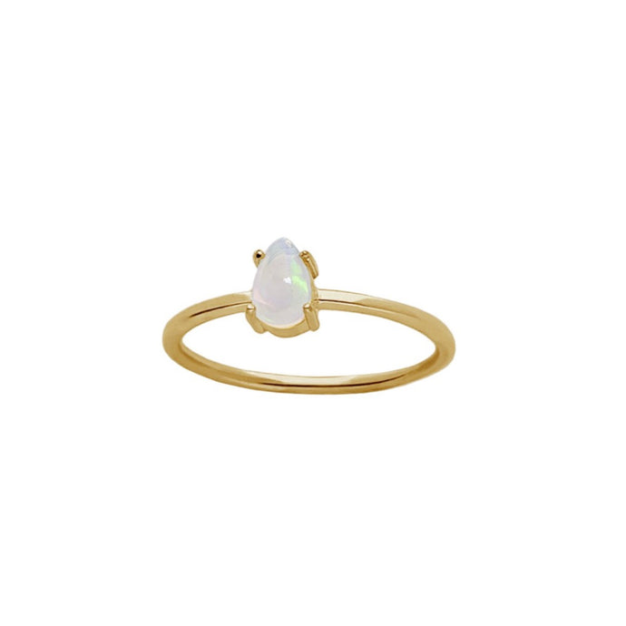 SKY Opal Claw in Gold - Corail Blanc