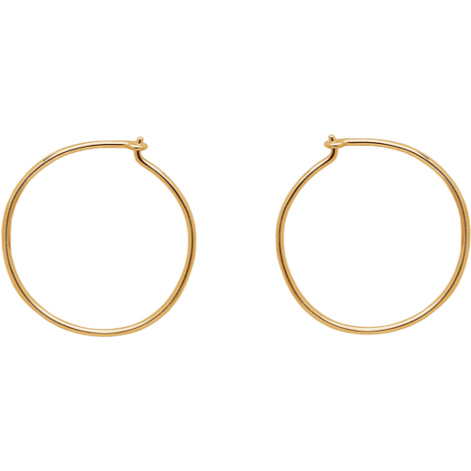Alice Hoops in Gold - Corail Blanc