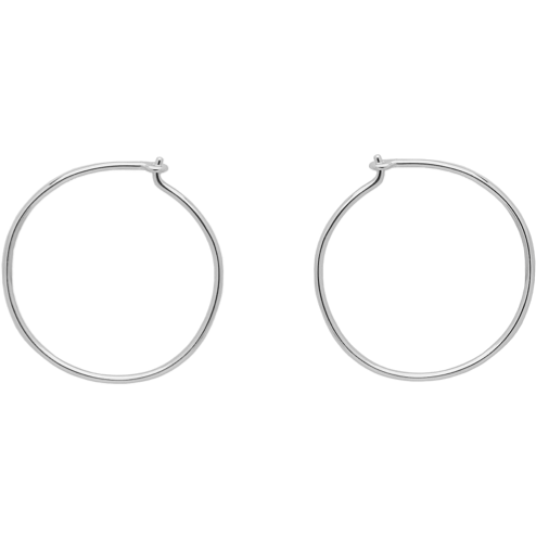 Alice Hoops in Silver - Corail Blanc