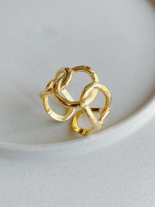 Geometric Ring in Gold - Corail Blanc