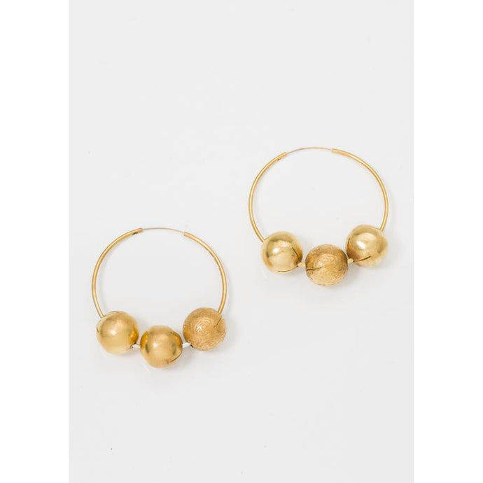 Margaretha Hoop Earrings - Corail Blanc