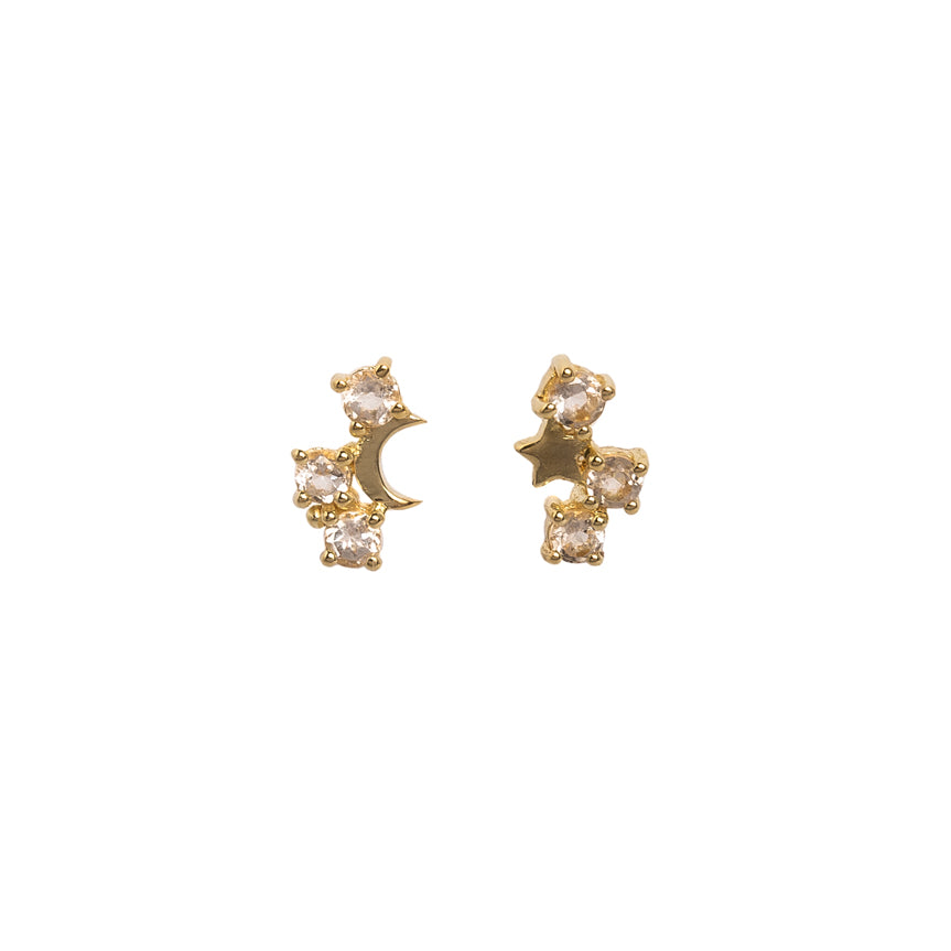 Lyra Earrings - Corail Blanc