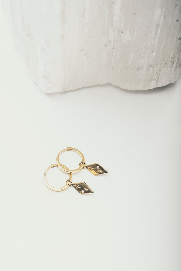 Pheobe Earrings - Corail Blanc