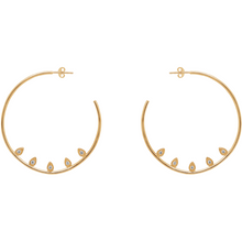 Valentina Hoop Earrings in Gold - Corail Blanc