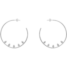 Valentina Hoop Earrings in Silver - Corail Blanc
