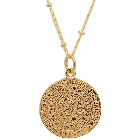Romy Double Pendent in Gold - Corail Blanc