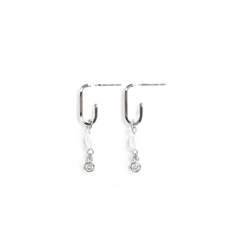 Catherine Earrings in Silver - Corail Blanc