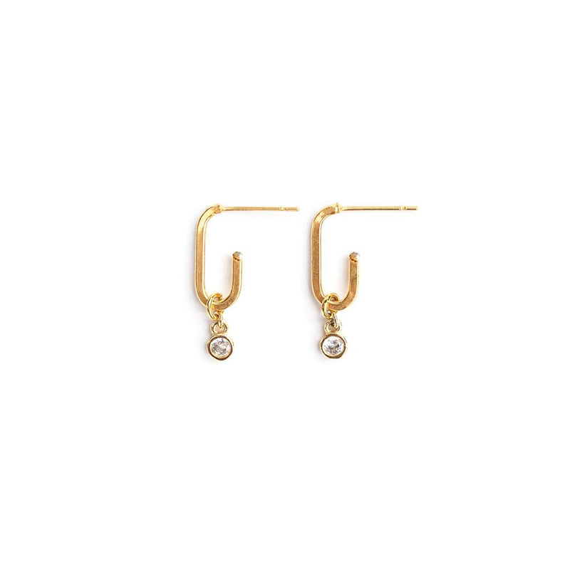Jones Earrings in Gold - Corail Blanc