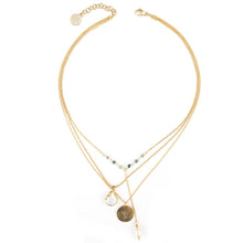 Lotus Necklace in Gold - Corail Blanc