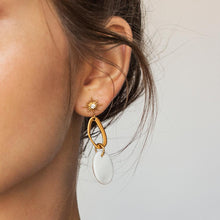 Milky Earrings in Gold - Corail Blanc