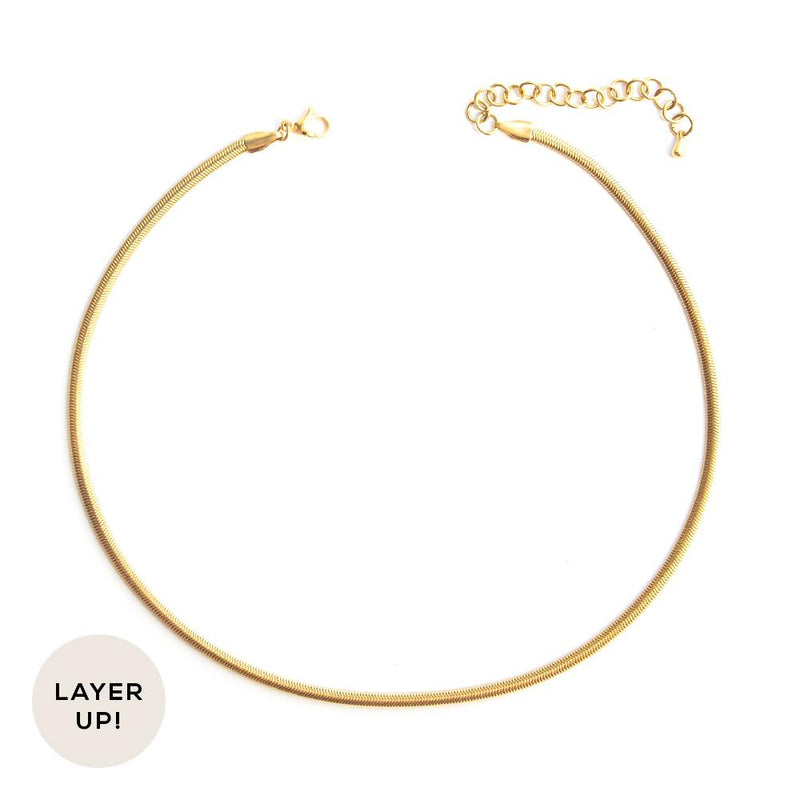 Sunny Necklace in Gold - Corail Blanc