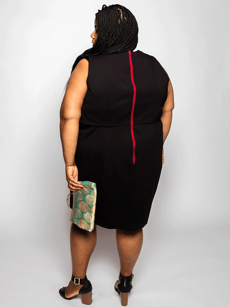 Elu Custom Plus Size Apparel Dress Bobbie Back View