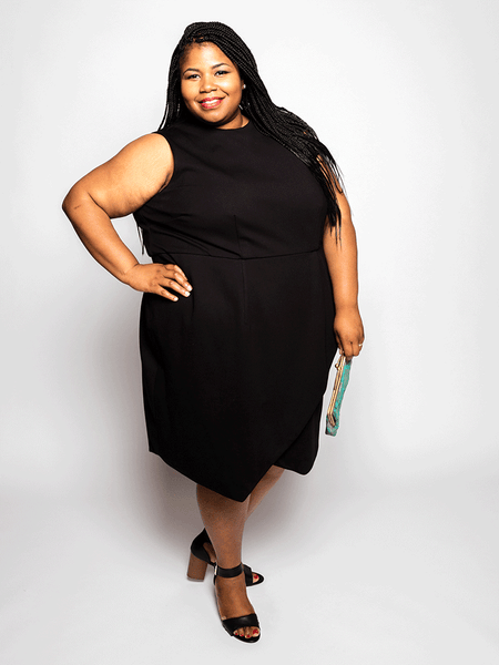 Elu Custom Plus Size Apparel Dress Bobbie Front View