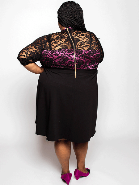 Elu Custom Plus Size Apparel Dress Carla Back View
