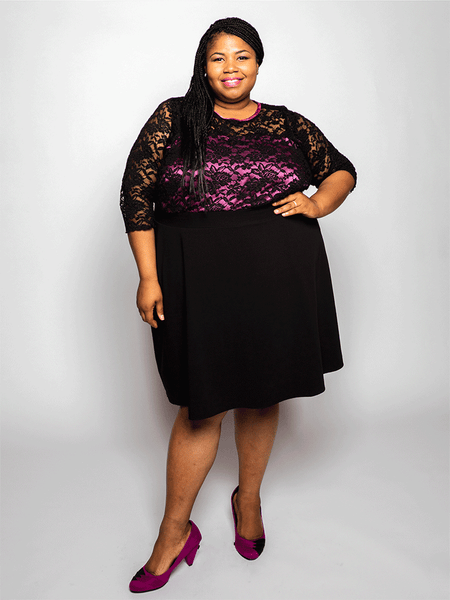 Elu Custom Plus Size Apparel Dress Carla Front View