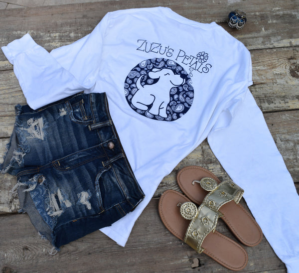 Long Sleeve White Key West Boho Beach Tees