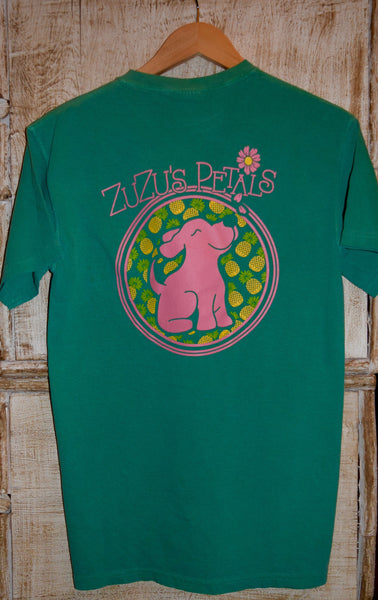 Pineapple Pup Kelly Green Tee