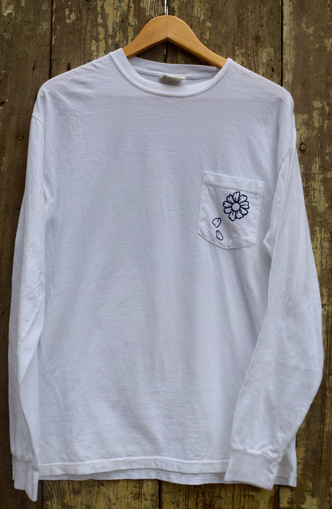 Long sleeve patterned t-shirt for a good cause.