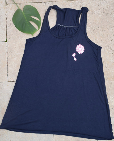 Navy & Pink Palmetto Beach Tank
