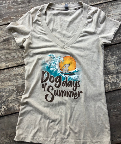 Dog Days of Summer V Neck Tee