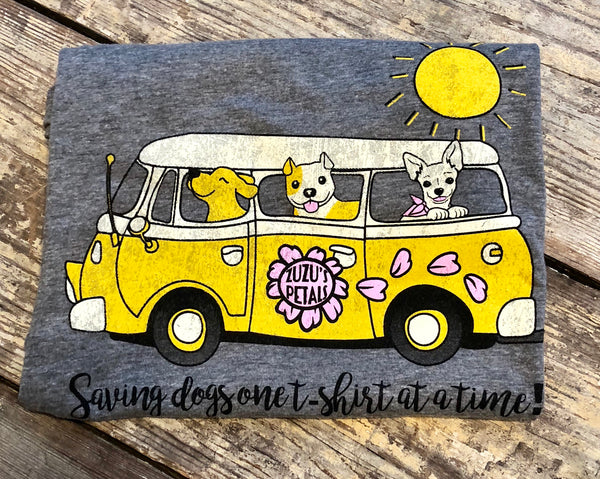 Rollin' Rescue Pups Women's Fitted Tee
