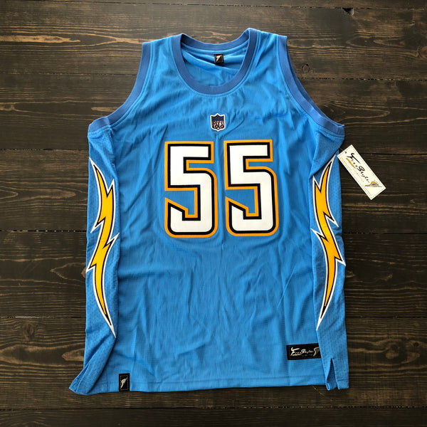 Freestyle Basketball Jersey X LAC Powder Solid #55